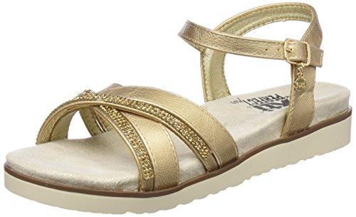 XTI 47664, Sandali con Cinturino alla Caviglia Donna, Oro (Gold), 36 EU
