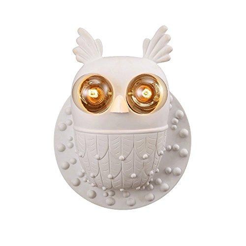 Nordic LED-Wandleuchten, kreative Persönlichkeit Harz Eule Dekoration an der Wand hängende Lampe postmodernen Speisesaal Flur Wandleuchte Retro Wohnzimmer Cafe Studie Wandleuchte -