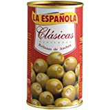 La Española Aceitunas Verdes Rellenas de Anchoa Clásicas - 150 g