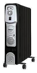 Maharaja Equato 2000-Watt 9 Fin Room Heater (Black/Silver)