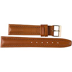 Leather Watch Strap 20mm Imperial Watches Leather Watch Band Tan 20mm Fastener: Yellow