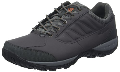 Columbia RUCKEL Ridge Waterproof, Scarpe da Trekking da Uomo Impermeabili, Grigio (Dark Grey/Bright Copper), 42.5 EU