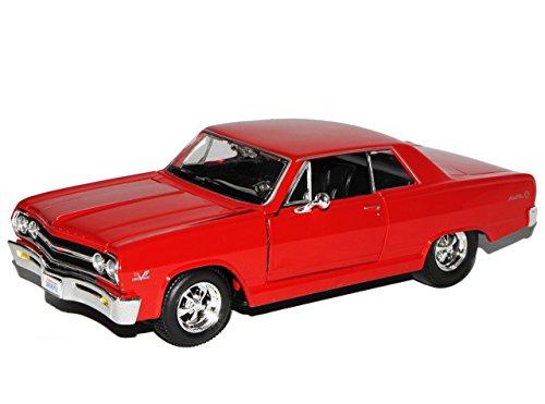 chevrolet-malibu-ss-1965-rot-coupe-1-24-maisto-modell-auto-mit-individiuellem-wunschkennzeichen
