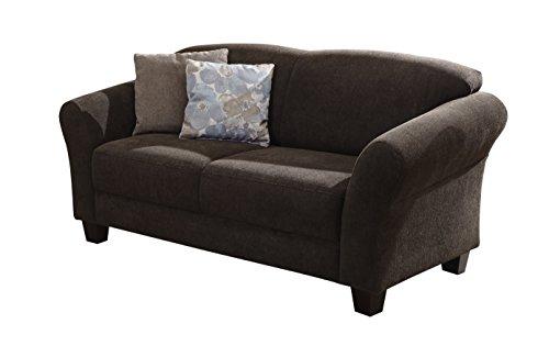 Cavadore 2-Sitzer Gootlaand / Landhaus Sofa im Landhausstil / Landhaus Sofa mit Federkern / Maße: 163 x 89 x 84 cm (BxHxT) / Farbe: Espresso (braun) /...