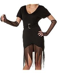 r-dessous schwarzes Hexenkleid Kostüm Vampir Outfit für Halloween und Karneval
