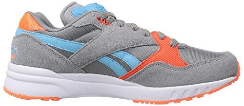 Reebok Pump Infinity Runner Unisex-Erwachsene Sneakers Grau (Flat Grey/Solar Orange/Neon Blue/White)