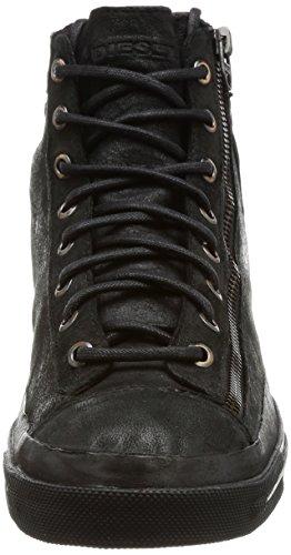 Diesel Magnete Expo-Zip-Sneaker M Y01545, Baskets Hautes Homme Schwarz (Black)