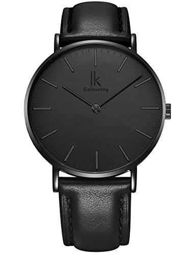 alienwork-ik-all-black-orologio-quarzo-elegante-quarzo-moda-design-senza-tempo-classico-cuoio-nero-n
