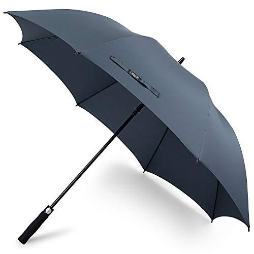 G4free, ombrello modello golf con apertura automatica, 157,5 cm, extra large, antivento, impermeabile, per uomo e donna, navy blue