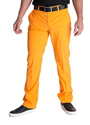 J. Lindeberg Golf para Hombre Pantalones ellott Slim Micro Stretch, Orange  (3471) 7c91f73faedb
