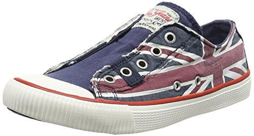 Pepe Jeans Industry Jack Low, Baskets Basses garçon Bleu - Blau (575NAVAL BLUE)