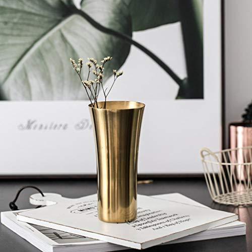 Jarrón oro latón estilo simple moda decoración