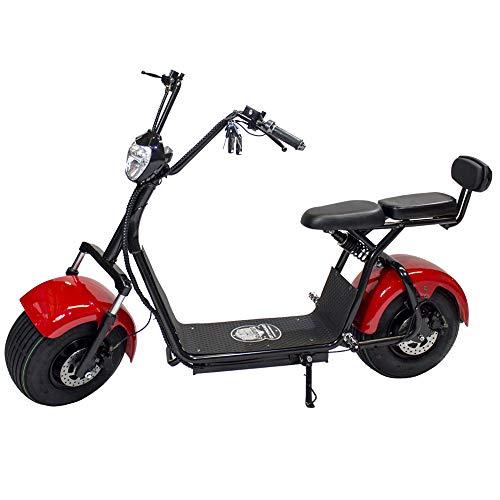 Moto Eléctrica CityCoco Last Mille. Potencia 1400W/12Ah. Color Rojo/Negro
