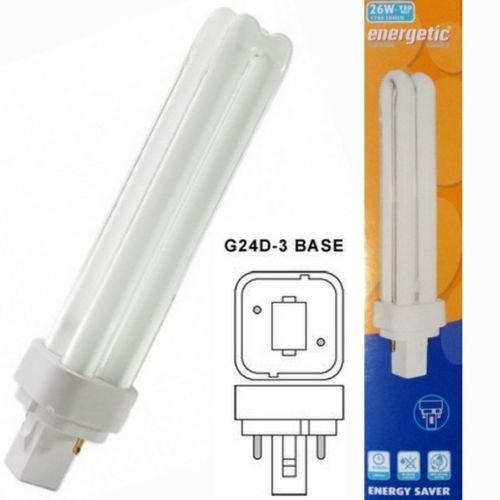 Energetic-energiesparend, G24d - 3, 4200 K, Kalt-Weiß, 26 W PL Lampe, kompakt, fluoreszierendes Licht Lampen 2 Pin 840 PLC -