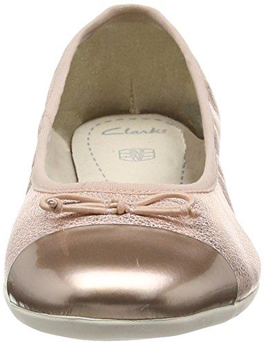 Clarks Dance Puff Jnr Mädchen Geschlossene Ballerinas Gold (Rose Gold)