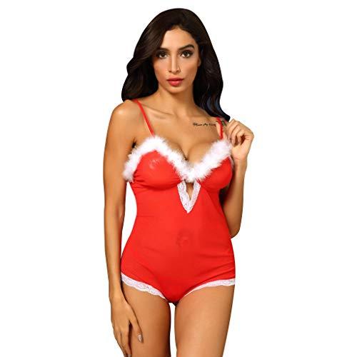 FRAUIT Navidad Ropa Interior Mujer Conjunto Camisones