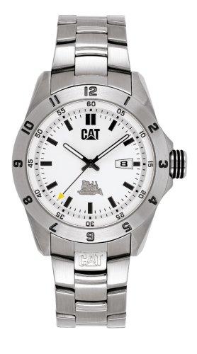 Caterpillar BIG TWIST XL CA0845 - Reloj analógico de caballero de cuarzo con correa de acero inoxidable plateada
