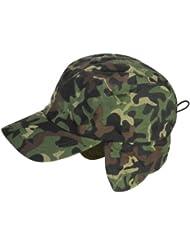 Sombrero con diseño camuflado con orejeras de polar para trabajo, deportes, caza, viajes