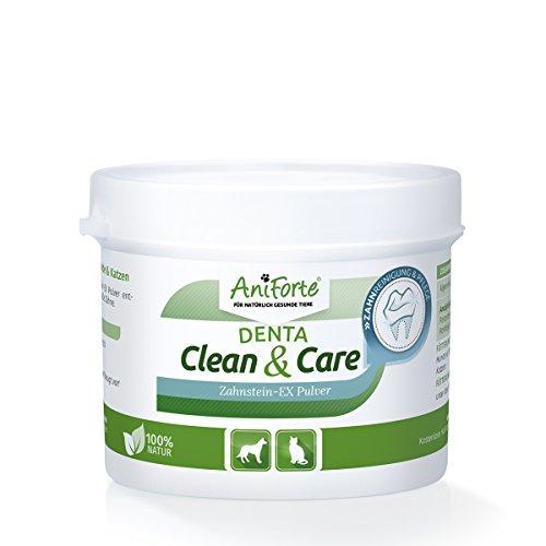 katzeninfo24.de AniForte Denta Clean&Care ? Zahnstein-Ex Pulver 80 g mit verbesserter Rezeptur- Naturprodukt für Hunde und Katzen
