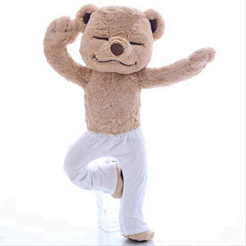 Gtrjin Yoga Bear Plush Toy 40 Cm, Creative Cute Plastic Cartilage Bear Plush Doll, Juguete para Bebé Suave Y Cómodo, Regalo De Cumpleaños para Niños