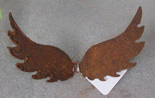 Edelrost Flügel / Engelsflügel zum Einstecken in Kerzen 10x21cm / Querflügel