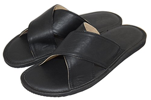 Natleat Slippers , Tongs pour homme Noir