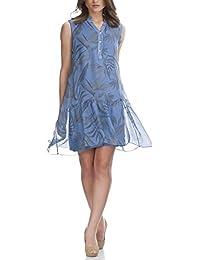 Laura Moretti - Vestido de seda con estampado de flores y hojas