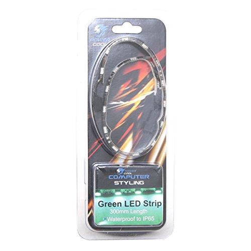 Powercool-Tira LED 30cm, color verde