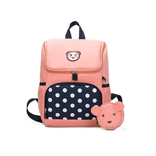 ger Rucksack Laptop-Rucksack Kamerarucksack Schultertaschen Schultaschen Büchertasche Weicher Rucksack Kleinkind-Rucksäcke pink ()