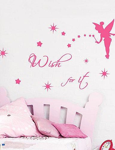Preisvergleich Produktbild Wish für ES Worte Wand Aufkleber braun