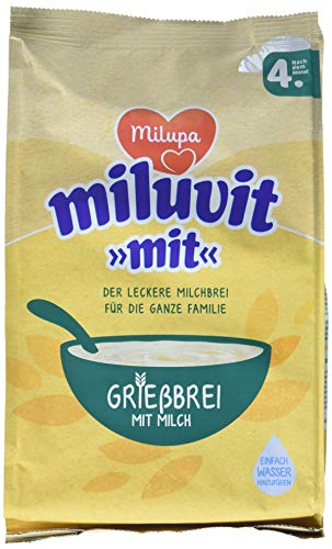 Milupa Grießbrei Miluvit mit 4 Monat, 5er Pack (5 x 400 g)