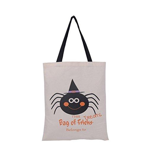 2017Funny Halloween Candy Tasche, yoyoug Halloween Candy Einkaufstasche Canvas Tote Handtasche, canvas, F, Einheitsgröße (Große Tote Handtasche Schokolade)