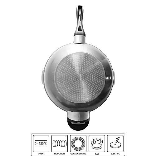 STONELINE® FUTURE Wok 32 cm, mit Siebglasdeckel, induktionsgeeignet