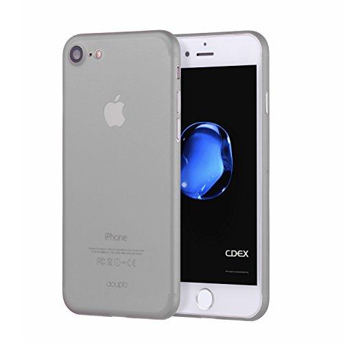 doupi UltraSlim Hülle für iPhone 8/7 (4,7 Zoll), Ultra Dünn Fein Matte Oberfläche Handyhülle Cover Bumper Schutz Schale Hardcase Design Schutzhülle, grau