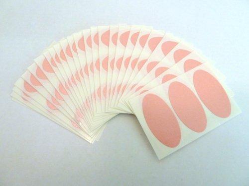 75 Etiquetas , 40x20mm Ovalado , Rosa , Color Code Pegatinas , autoadhesivo Adhesivo De color etiquetas