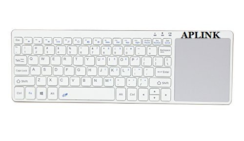 APLINK Wireless Bluetooth Keyboard with Multi Touchpad,Touch Keyboard for Windows, Linux /Android IOS Tablet PC/ Galaxy Tabs& Smart Phone (WHITE)