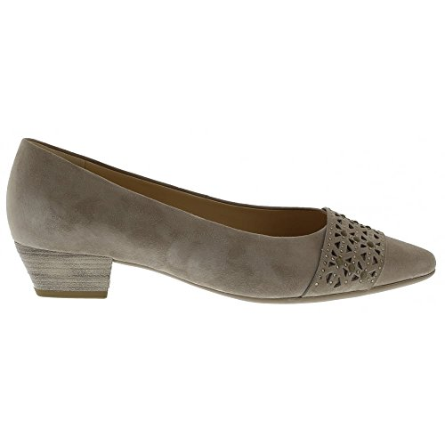 Gabor Damen Fashion Pumps Beige Suede