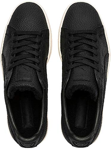 Puma Suede Classic Shearling Low-Top Sneakers  Black-Whisper White  5 5 UK