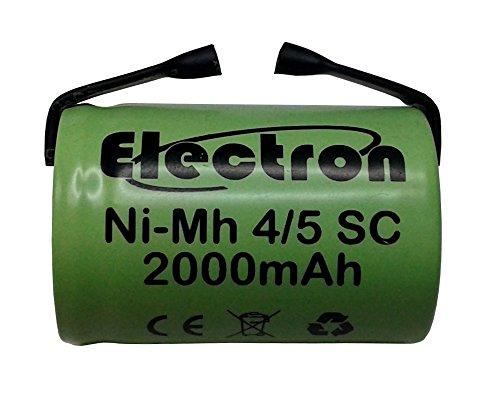 Batteria ricaricabile NiMh 4/5 SC 1,2V 2000mAh 22x33mm subC a saldare linguette per pacchi batteria