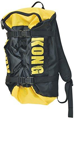 Kong Zaino Porta Corda Free Rope Bag, Nero/Giallo, Capacità 20 Litri
