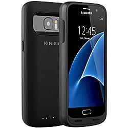 KiWiBiRD 5000mAh rechargeable coque de batterie pour Samsung Galaxy S7 avec 120%+ de batterie (Uniquement pour le S7) - Noir Mat