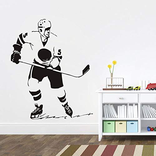 Sport Wandaufkleber Eishockeyspieler Abnehmbare Vinyl Wandtattoo Kunst Raumdekor Wohnzimmer Sport Jungen Schlafzimmer Decotaion Z 42x50 cm