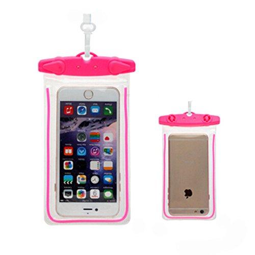 Rose Rouge,Etanche étui de téléphoneCellulaire à secSac pochette pour /Light