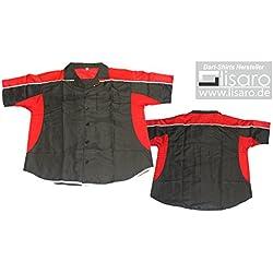 Lisaro - Camisa para dardos, color negro y rojo negro blanco / rojo Talla:4XL