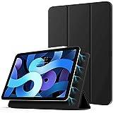 TiMOVO Hoes voor iPad Air 4e generatie 10.9 inch 2020 / iPad Pro 11 inch 2018, beschermhoes met automatische slaap-/wekfunctie, magnetische bevestiging en lading voor iPencil 2 - zwart