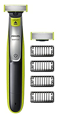 Philips OneBlade Hybrid Trimmer & Shaver with ; 1 Extra Blade Amazon Exclusive (UK 2-Pin Bathroom Plug)