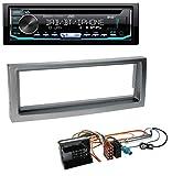 caraudio24 JVC KD-DB902BT CD DAB MP3 USB Bluetooth Autoradio für Citroen C5 Peugeot 407 ab 04 grau-metallic
