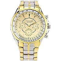 MXECO 461 Mans Vestido Relojes de Acero Inoxidable de la Manera de Gaza Oro Impermeable Reloj electrónico de la Personalidad Reloj Resistente de 84 Vida Rone