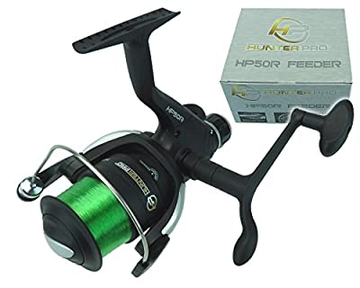 Feeder Reel Hunter Pro 50R Feeder Carp Coarse Fishing Reel With Line & Rear Drag from Hunter Pro