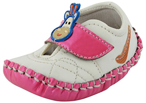 ESSENCE Baby Girls' White and Pink First Walking Shoes -...